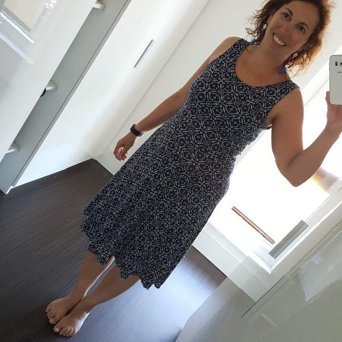 Robe Moneta sans manches - Colette Patterns - Avril sur un fil
