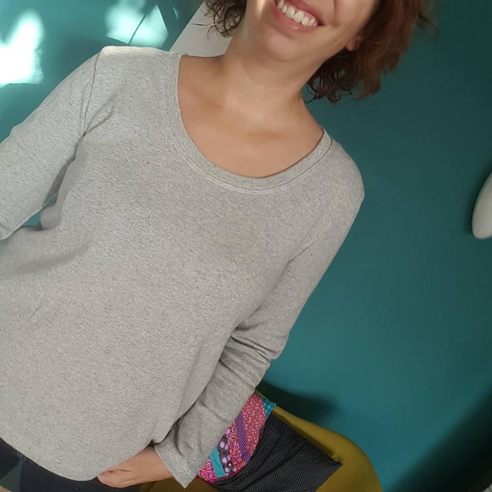 Sweat Jeannette Marie poisson Coudre le stretch - Avril sur un fil
