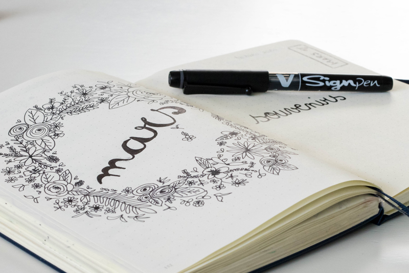 Commencer son bullet journal - mon stylo préféré le V Sign pen !