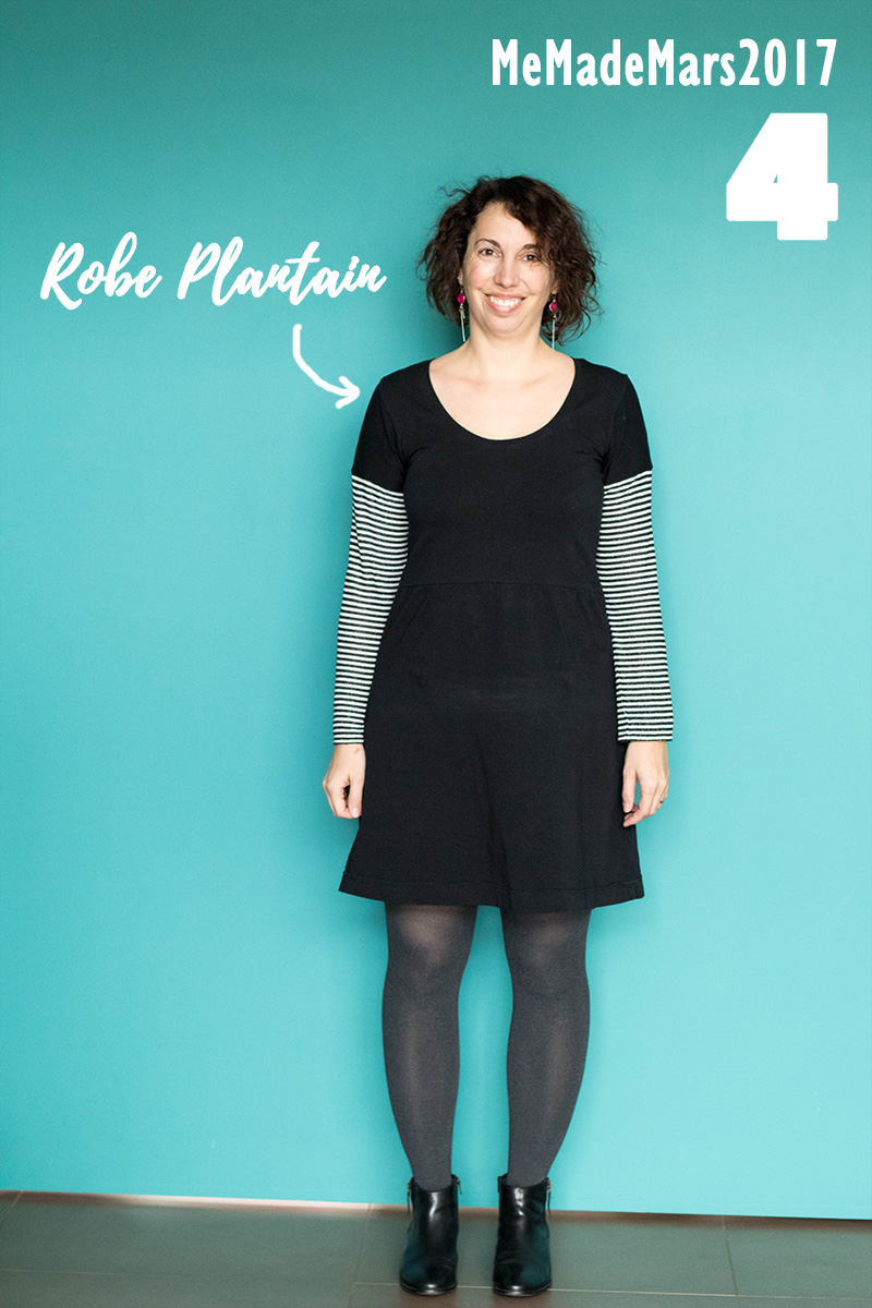 Me made Month Mars 2017, jour 4 : Robe plantain de Deer & Doe