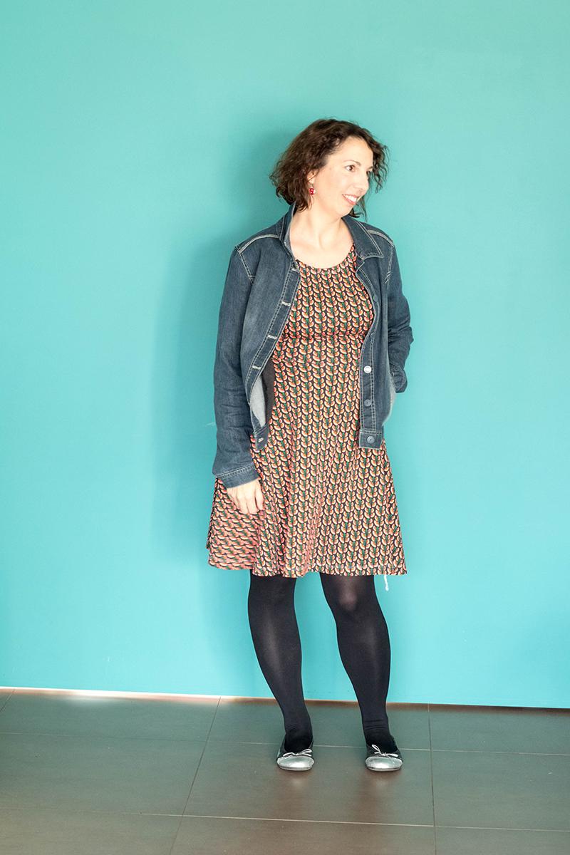 Robe Moneta parfaitement compatible avec ma garde robe ! Ici, version casual.
