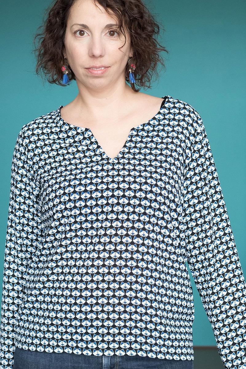 Projet de février pour ma garde robe capsule : le top Pam de la Maison Victor