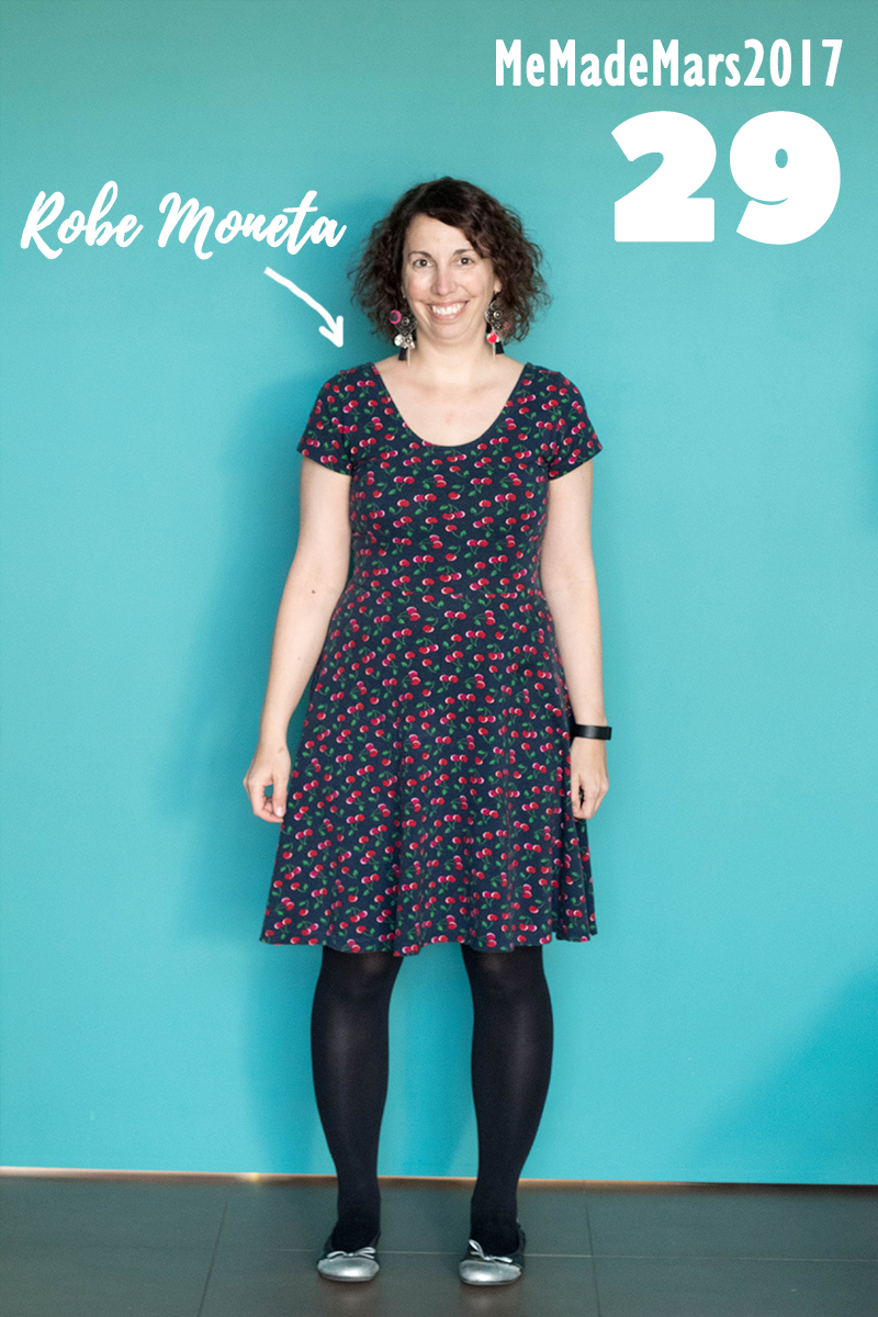 En robe Moneta de Colette Patterns pour le jour 29 du Me Made Month Mars 2017