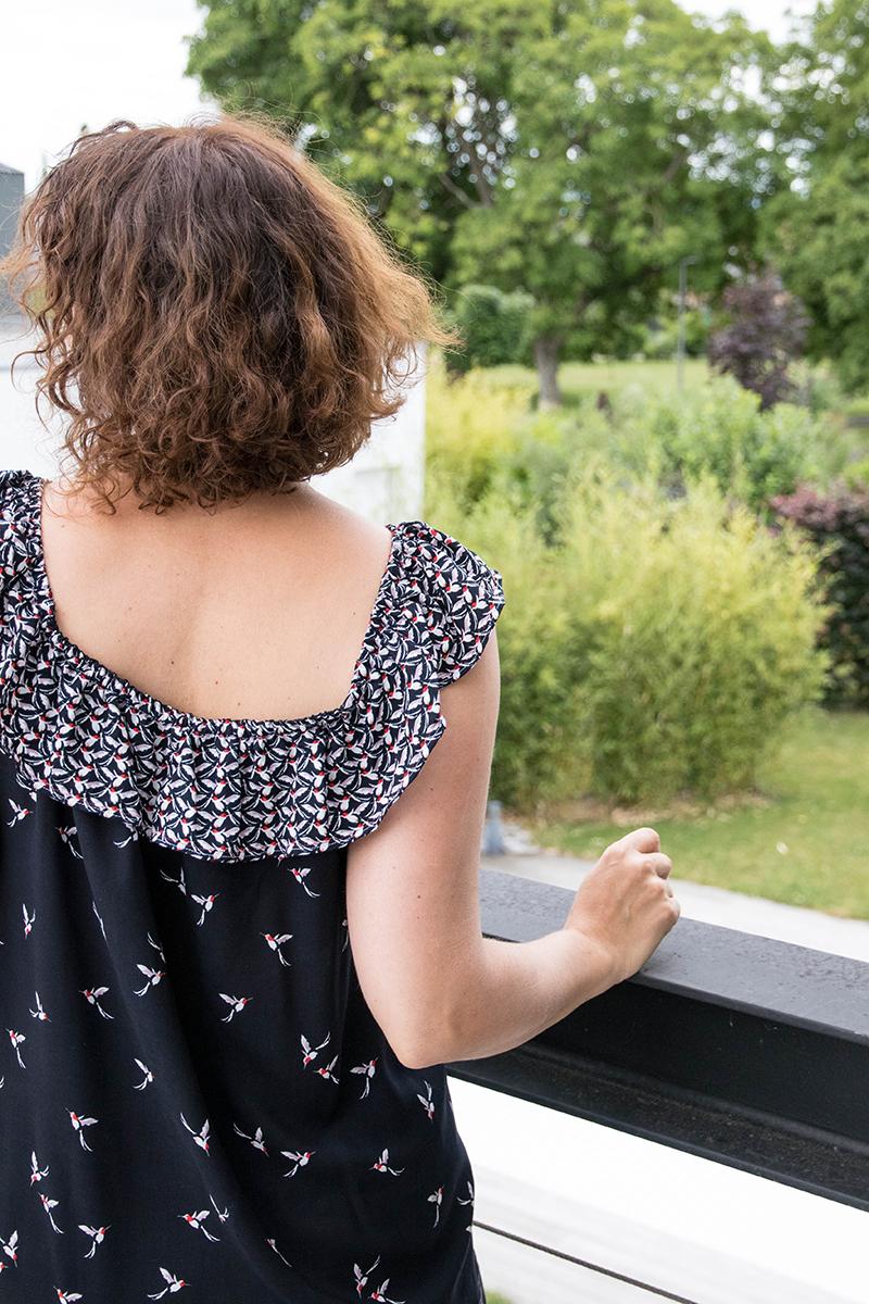 Je couds ma garde robe capsule 2017 : projet de juin, le top hippie de Vanessa Pouzet