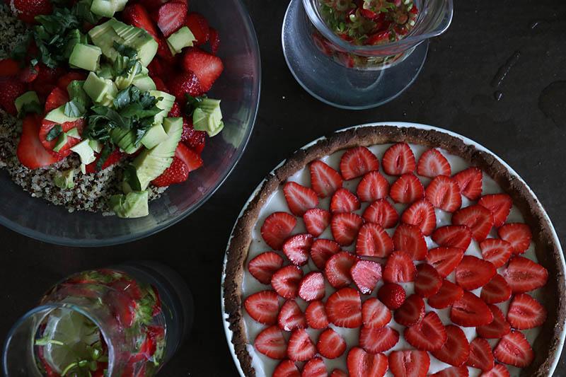 Tarte aux fruits et salade pour mes petits plaisirs d'été - Avril sur un fil