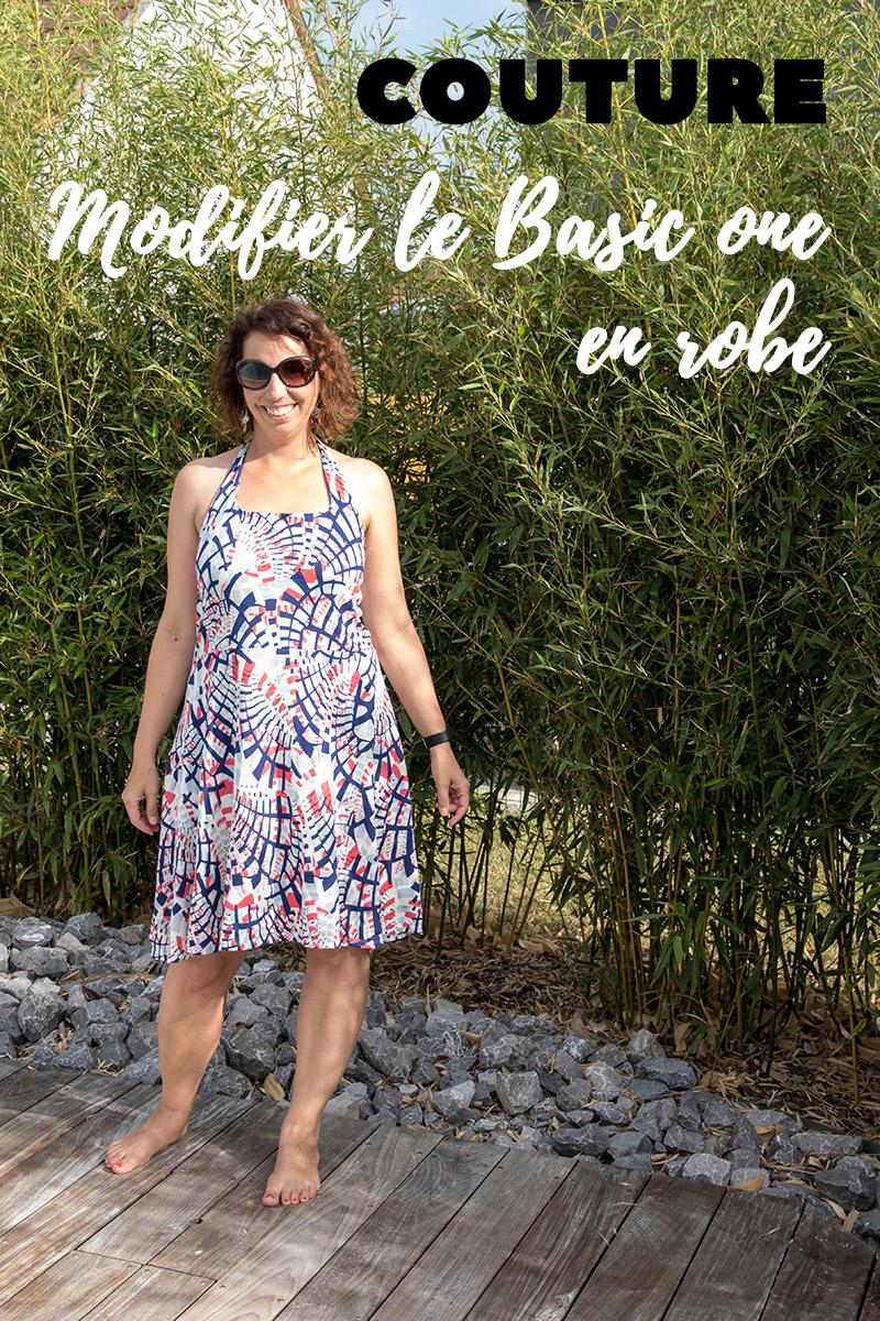 Couture : Modifier le patron Basic One de ODV en robe, c'est sur le blog Avril sur un fil !