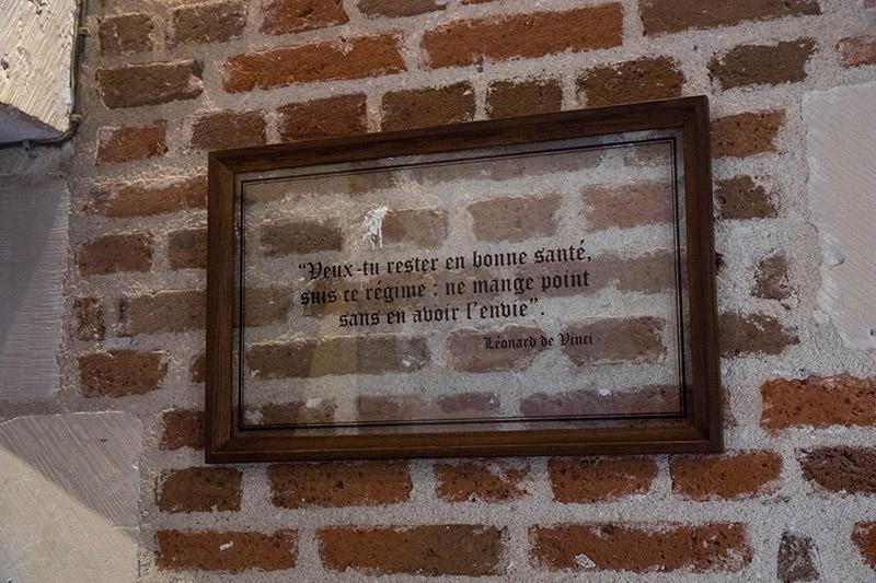 Citation de Léonard de Vinci au Clos lucé à Amboise - Avrilsurunfil