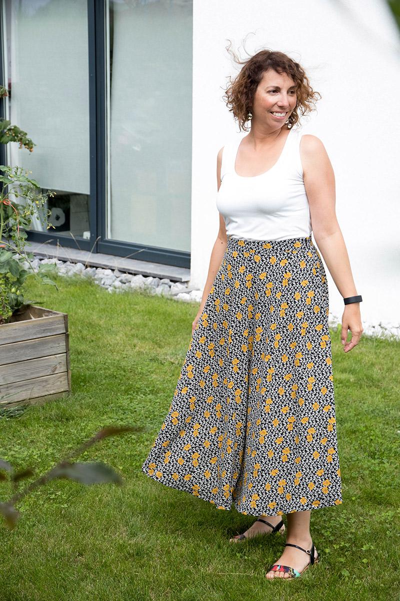 Une jupe longue pour le projet je couds ma garde-robe capsule de juillet