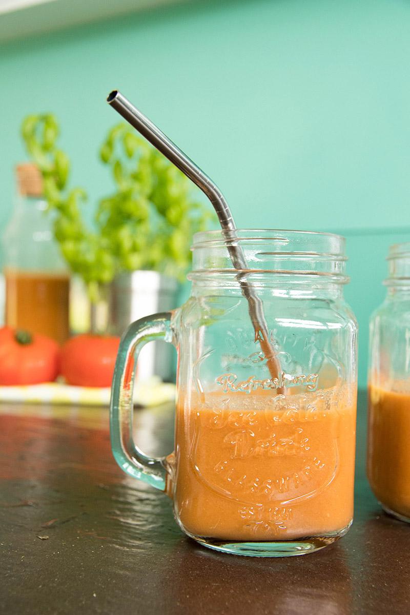 Recette du gaspacho tomates basilic au thermomix à découvrir !