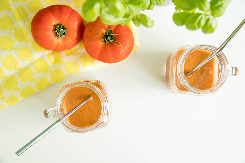Gaspacho tomates basilic express au thermomix