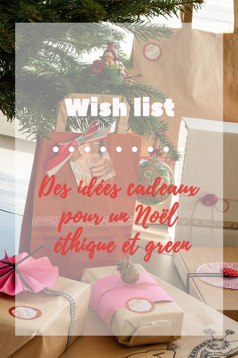 Idées cadeaux pour un Noël éthique et green - Avril sur un fil