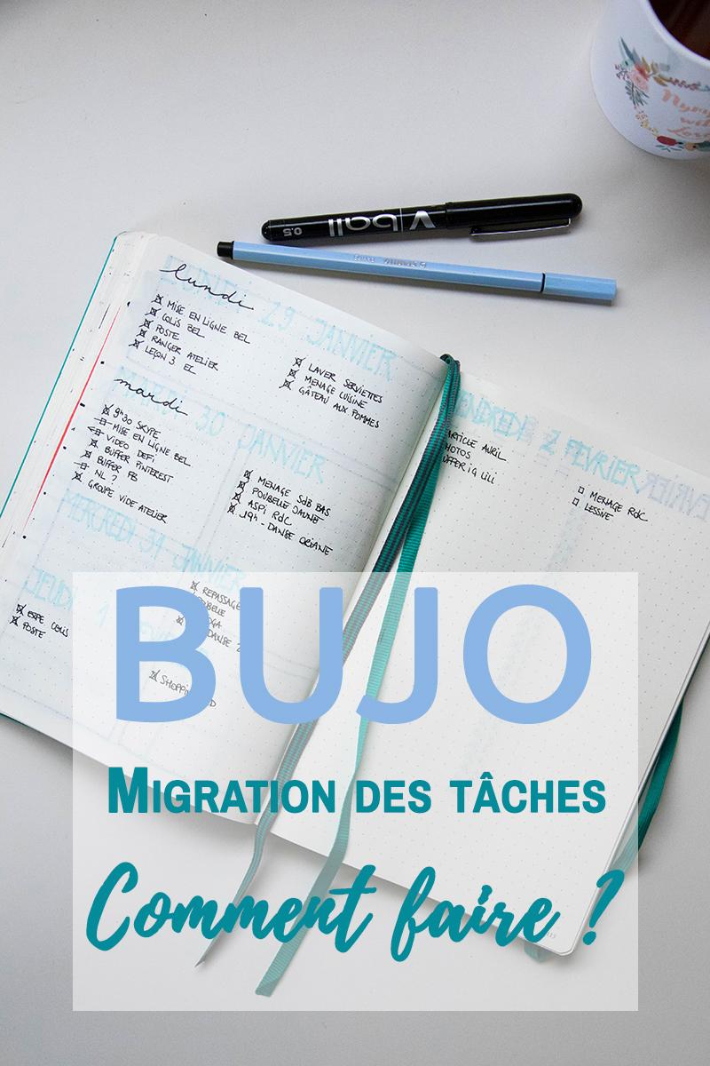 BUJO : Migration des tâches, comment faire ? Avril sur un fil