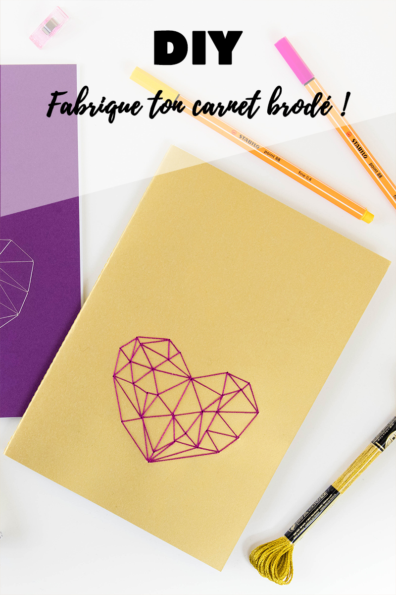 DIY : Fabrique ton carnet brodé - Avril sur un fil