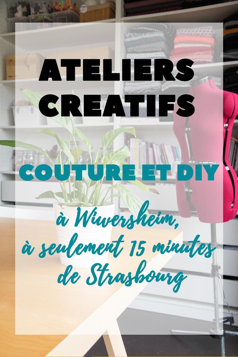 Ateliers créatifs couture et DIY à Wiwersheim, à moins de 15 kilomètres de Strasbourg