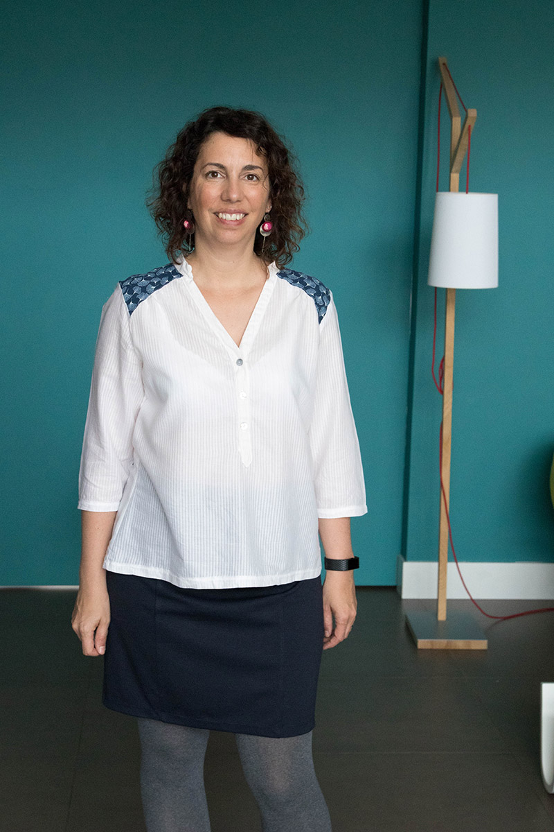 MA blouse miss Paulette de Gasparine - Avril sur un fil