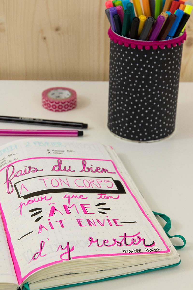 Bullet journal et bien-être : citations inspirantes - Avril sur un fil