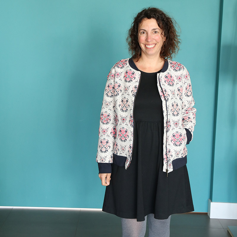 Me Made May 2018 - Jour 16 : Robe Moneta de Colette Patterns et Bomber Ottobre - Avril sur un fil