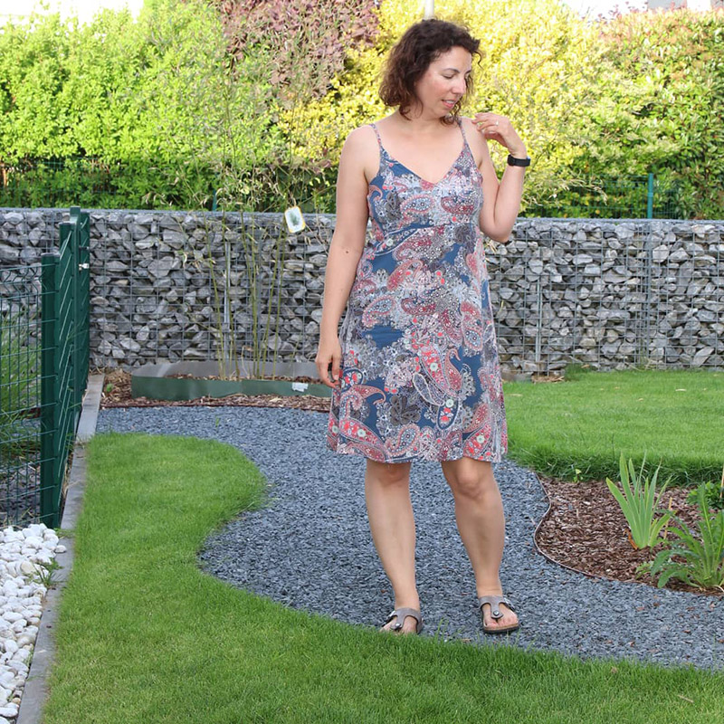 Me Made May 2018 - Jour 27 : Robe hippie du magazine ottobre 2/2014 - Avril sur un fil