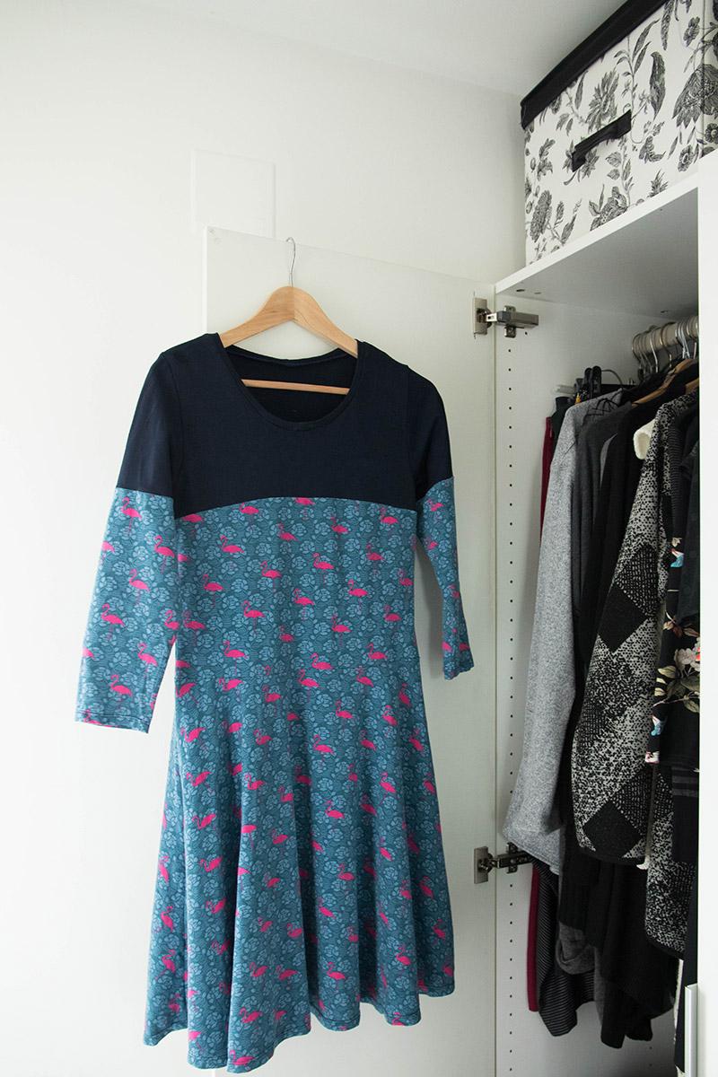 Une nouvelle robe dans mon dressing cousu main, rélaisée à patrir des patron givre et zéphyr de deer and doe - Avril sur un fil