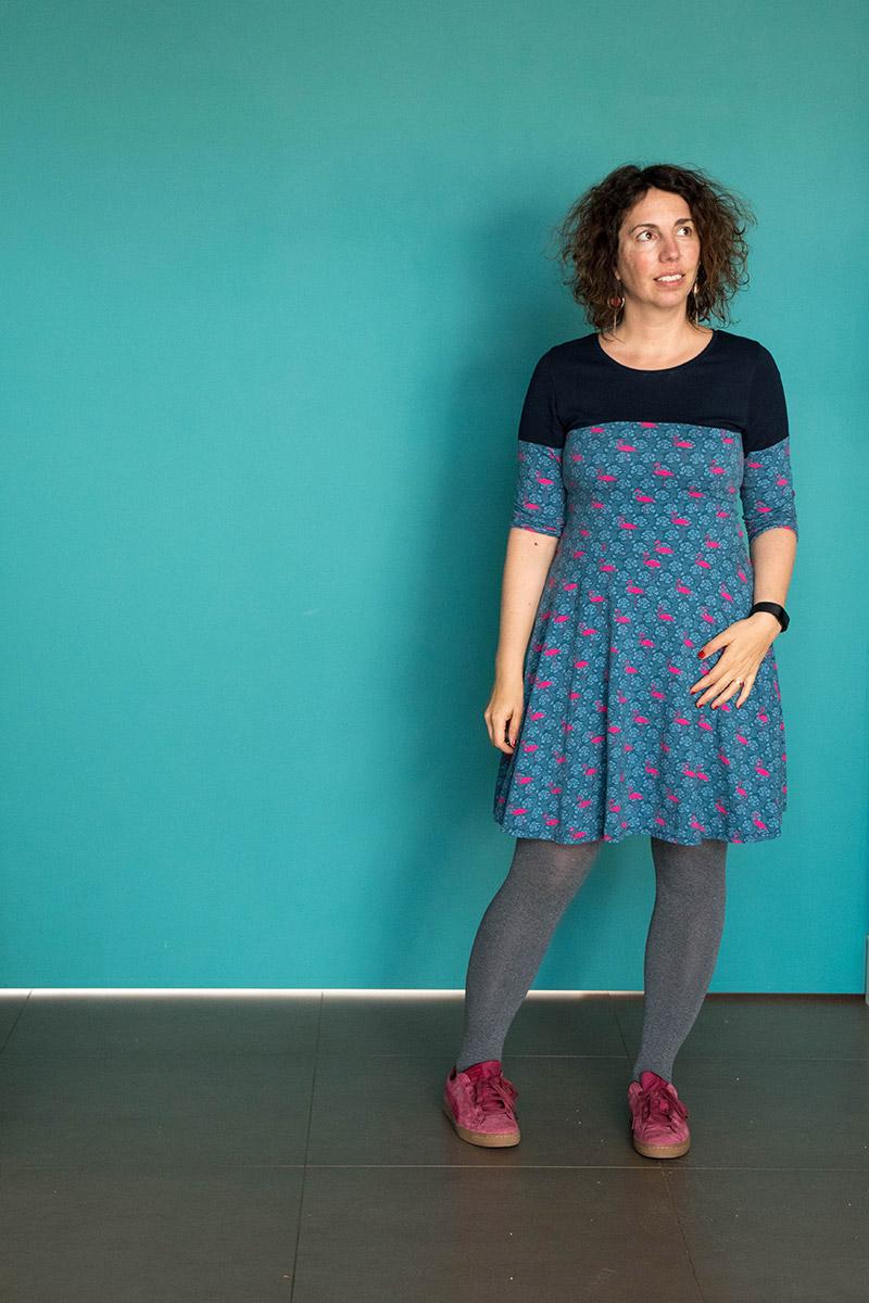 Couture : robe givre x zéphyr réalisée à partir des 2 patrons de Deer and Doe - Avril sur un fil