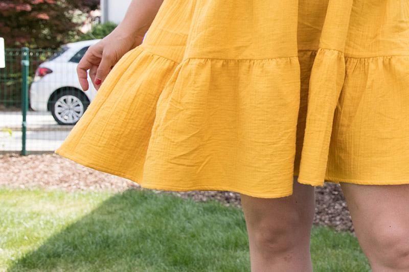 Les volants de ma robe Myosotis - Avril sur un fil