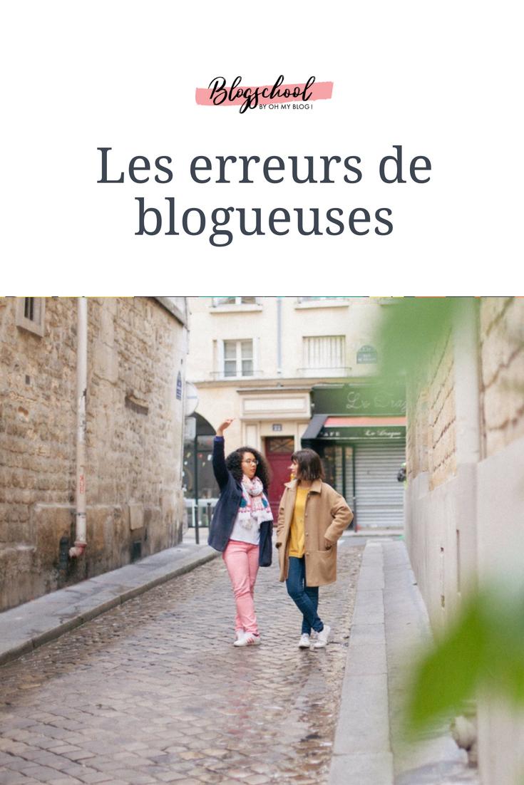 Formation blogschool : Les erreurs de blogueuse
