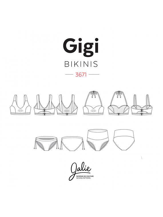 Patrons de maillot de bain : Gigi bikinis de Jalie