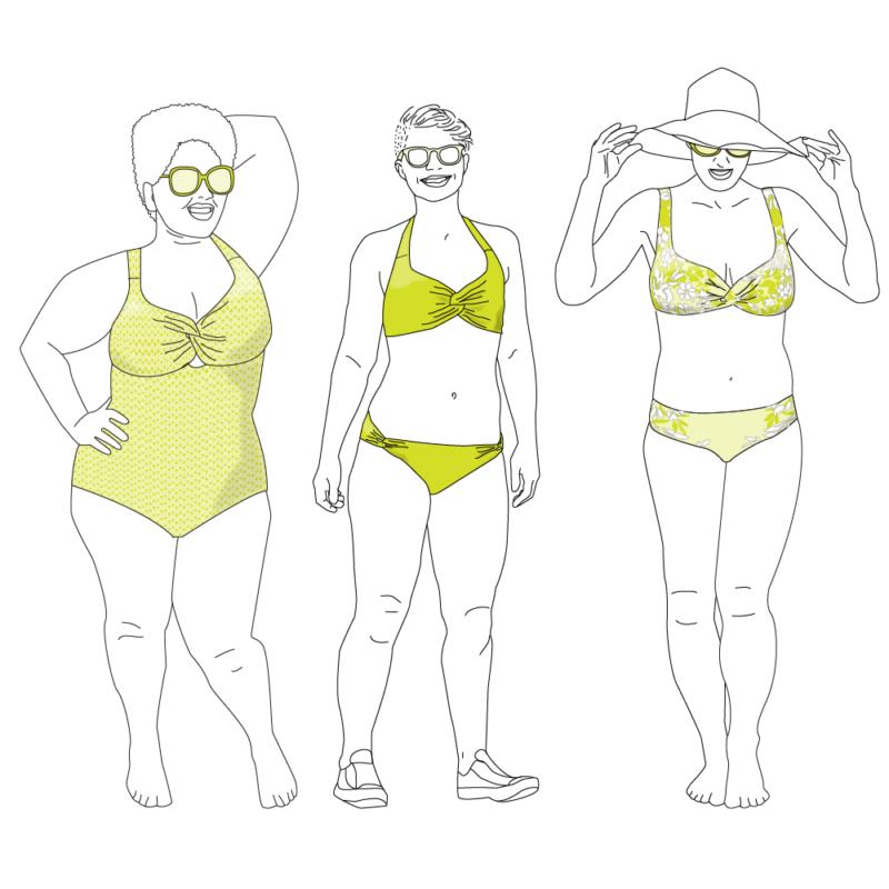 Patrons de maillot de bain : nautilus de tursday stiches