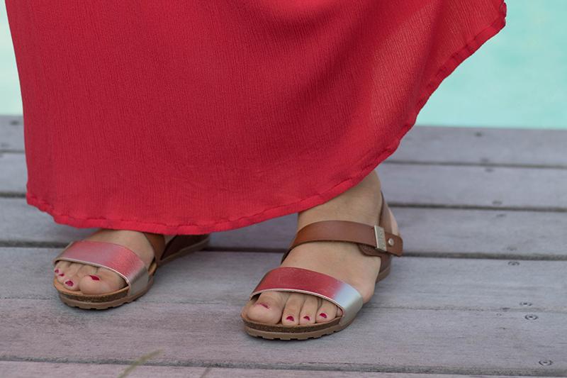 Robe hippie de Vanessa Pouzet modifiée : détails - Avril sur un fil