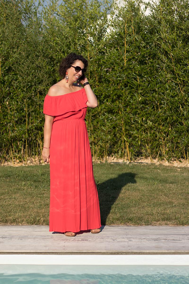 Couture : le patron hippie de Vanessa Pouzet modifié en robe longue - Avril sur un fil