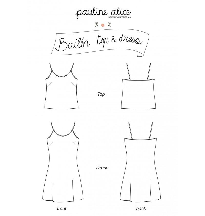 10 patrons gratuits pour coudre ta garde-robe d-été : Top et haut Bailen de Pauline Alice