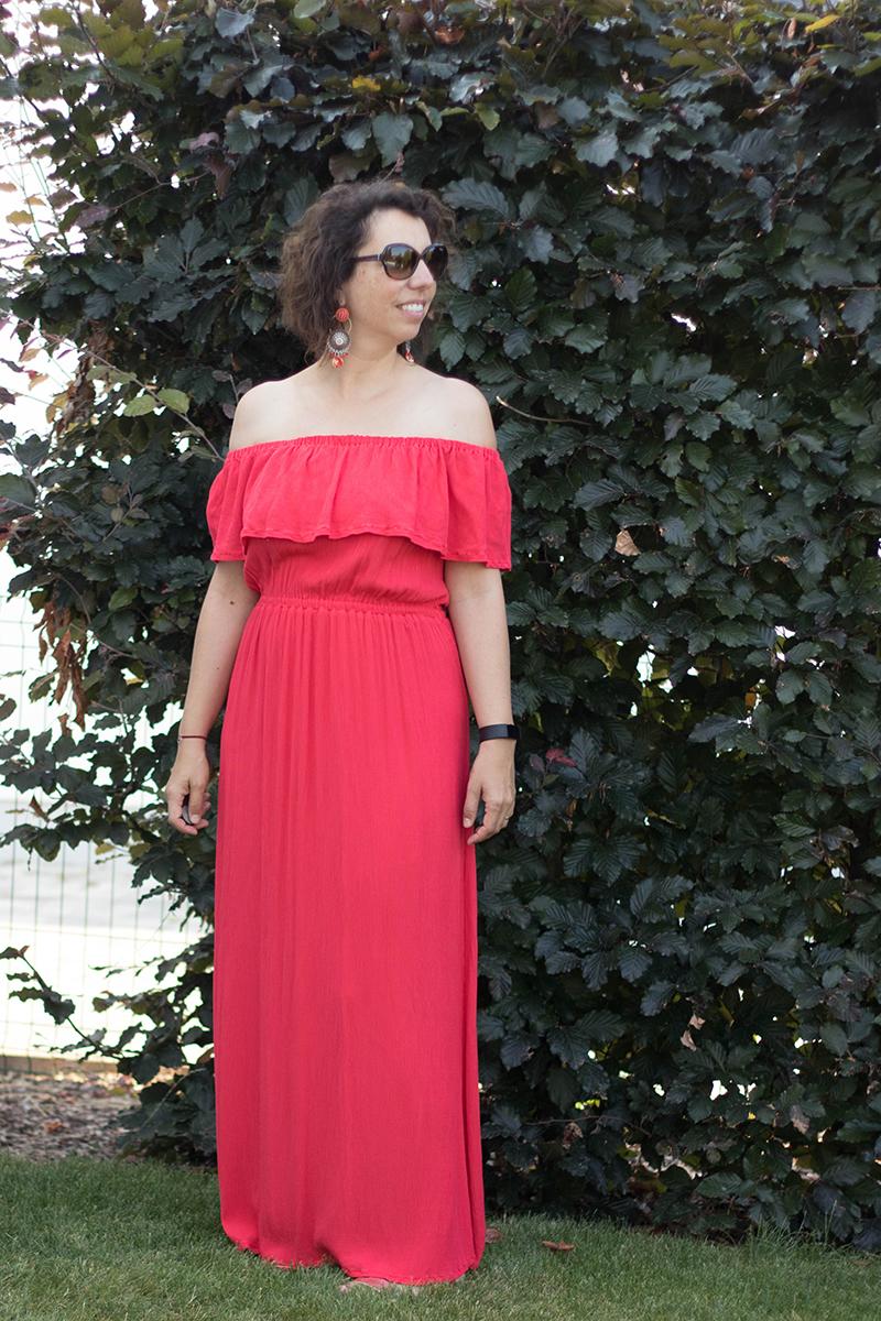 Couture : la robe hippie de Vanessa Pouzet modifiée en robe longue - Avril sur un fil