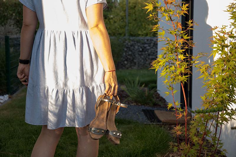 MA nouvelle robe myosotis pour le défi bleu et blanc de cdesyle