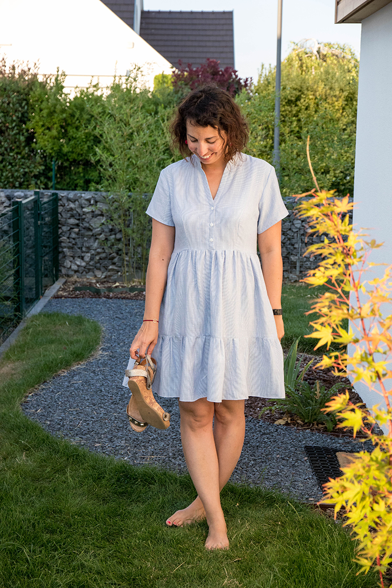 Couture : robe myosotis de Deer and Doe - Avril sur un fil
