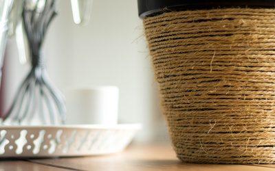 {DIY} : Un cache pot tressé en corde pour mon cactus
