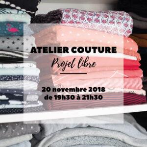 Atelier couture : projet libre, à Wiwersheim / Alsace, à 10 kilomètres de Strasbourg - Avril sur un fil