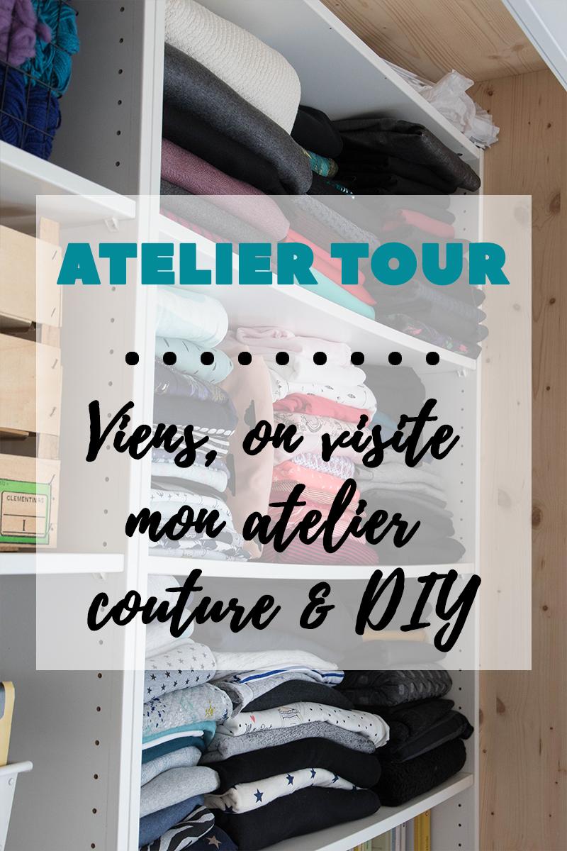 Atelier tour : viens, on visite mon atelier couture et DIY - Avril sur un fil