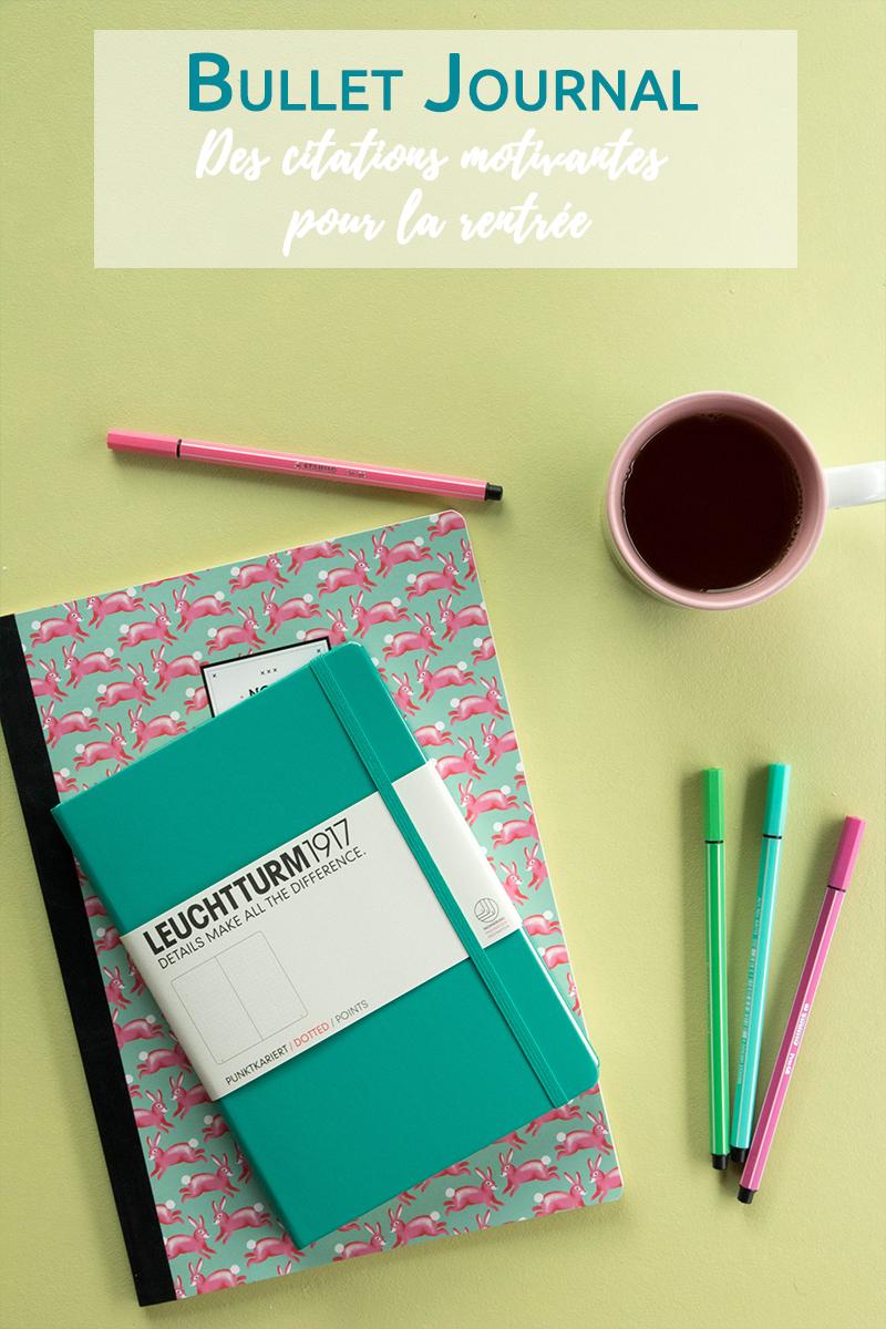 Bullet Journal : des citations motivantes pour la rentrée - Avril sur un fil