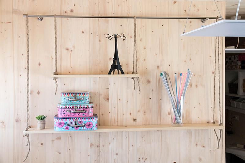 Etagère suspendue : retrouve mon DIY pour fabriquer la tienne - Avril sur un fil