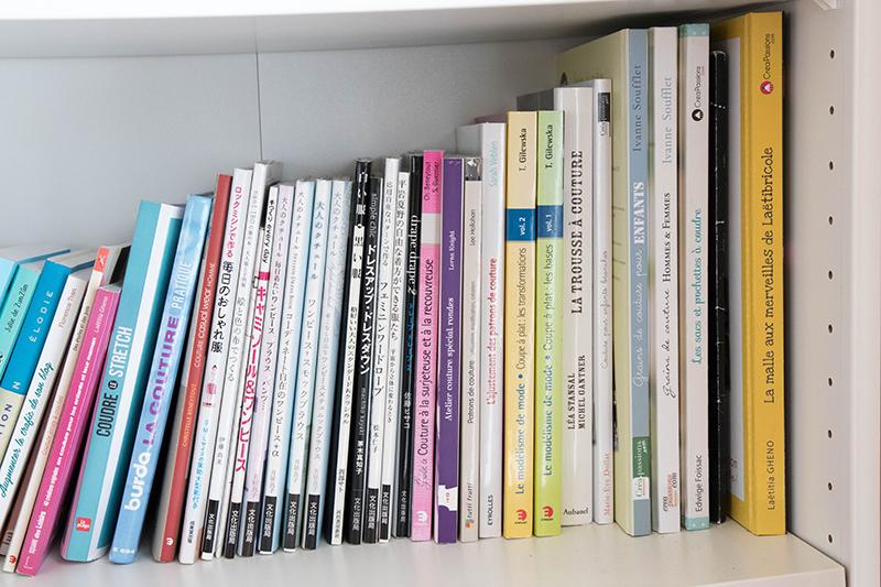 Atelier tour : ma bibliothèque couture et DIY