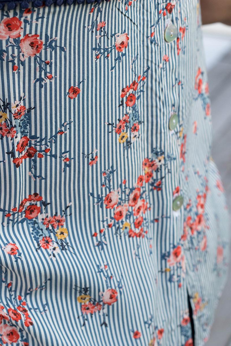 Boutonnage dos de la blouse Datura - Avril sur un fil