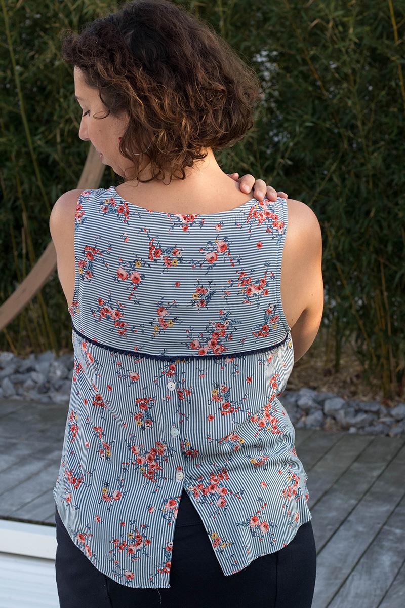 Couture : Blouse Datura de dos - Avril sur un fil