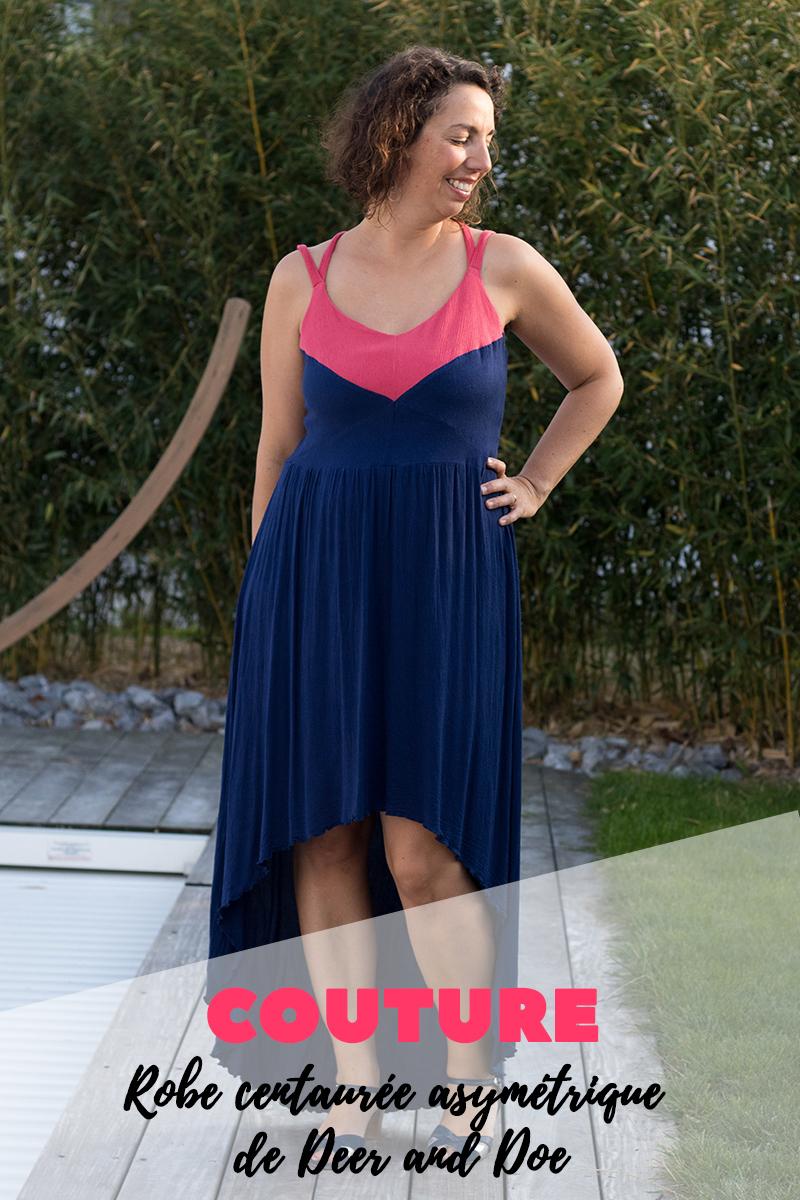 Couture : la robe centaurée asymétrique de Deer and Doe - Avril sur un fil