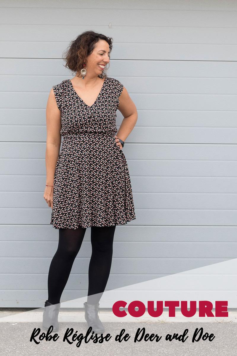Couture : robe réglisse de Deer and Doe pour un look automnal - Avril sur un fil