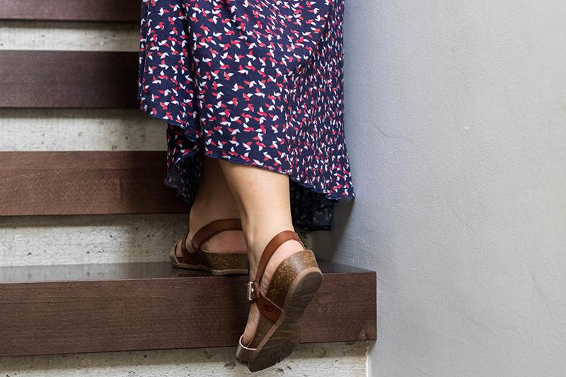 Nouvelle robe longue cousue main givre x moneta - Avril sur un fil