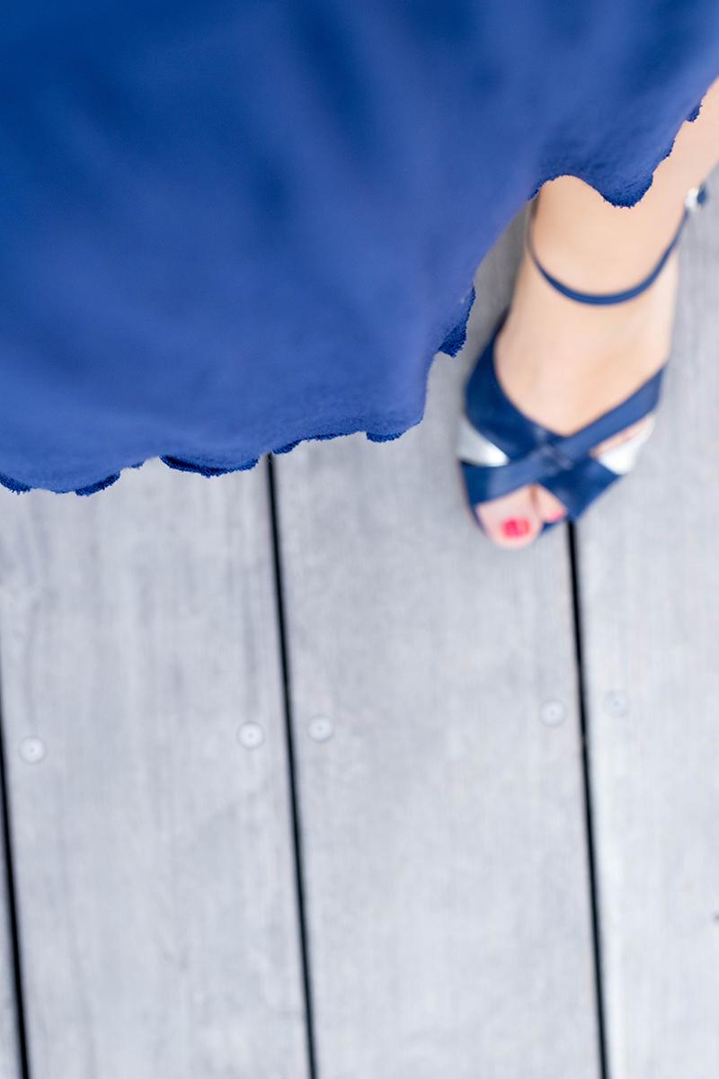 Ourlet roulotté de ma robe centaurée - Avril sur un fil