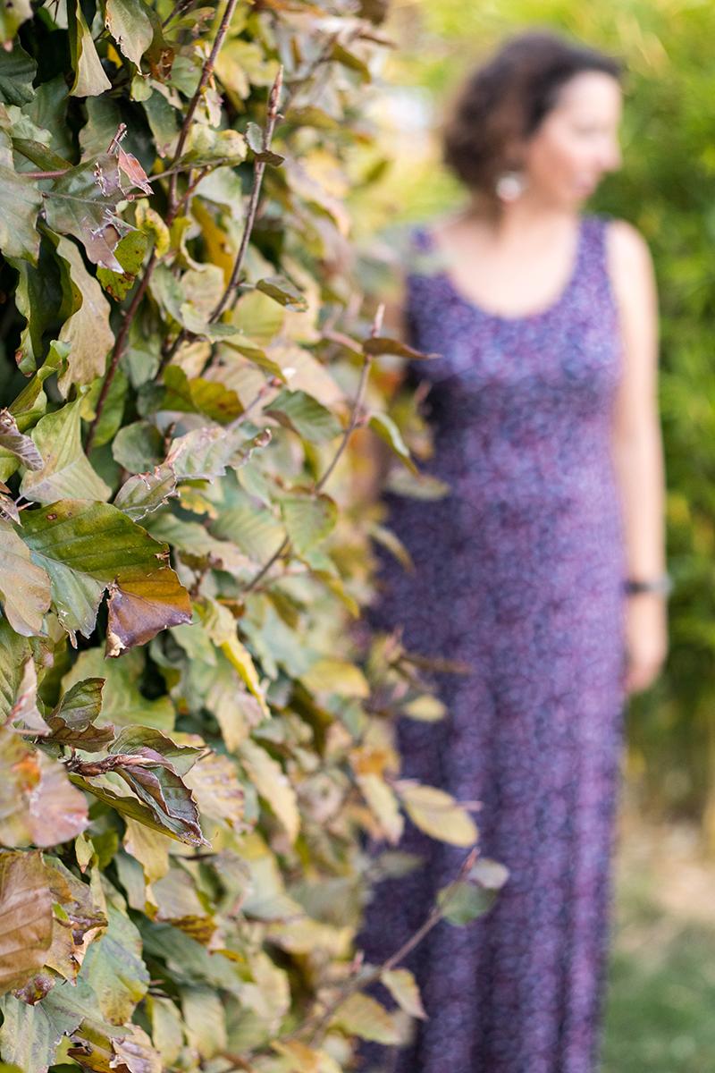 Robe longue cousue main - Avril sur un fil