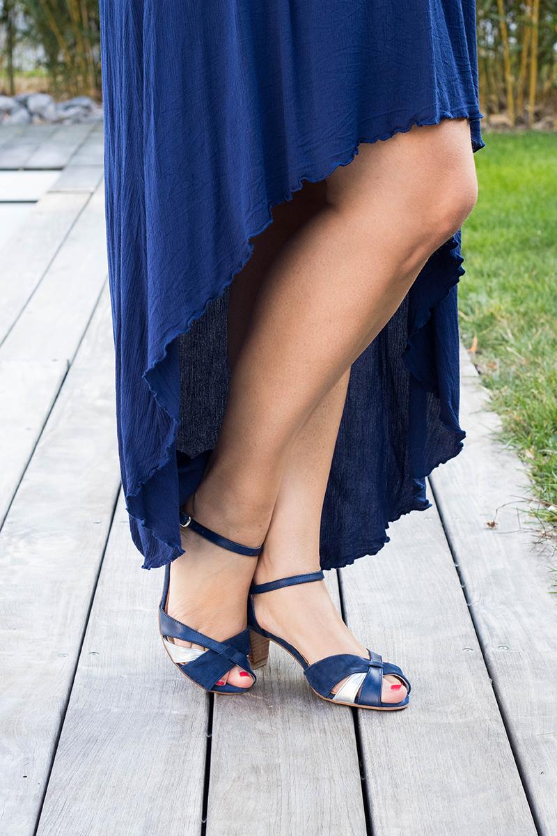 Robe centaurée asymétrique - Avril sur un fil
