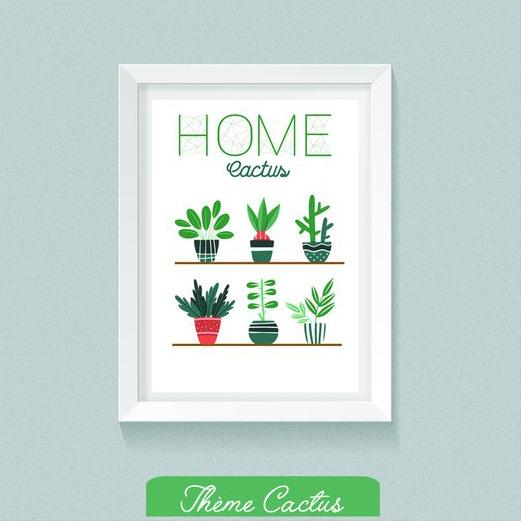 Idées cadeaux de Noel pour les amoureuses des plantes : un affiche cactus
