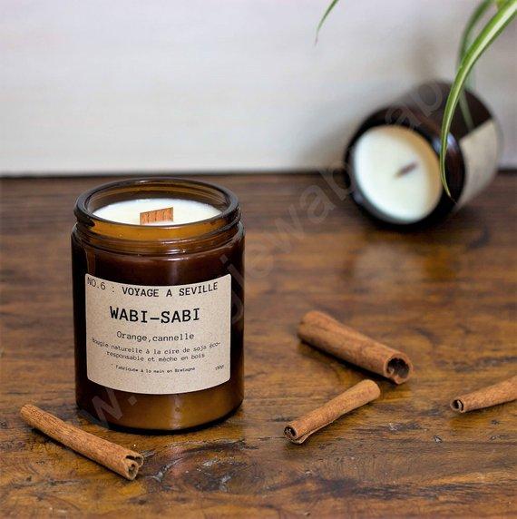 Idées cadeaux pour un noël plus éthique : Bougie Wasi sabi